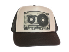 Tape Cassette hat Trucker Hat Mesh Hat tan brown new adjustable