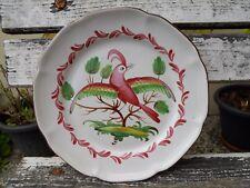 Assiette les Islettes st clément céramique de l'est oiseau ailes déployées