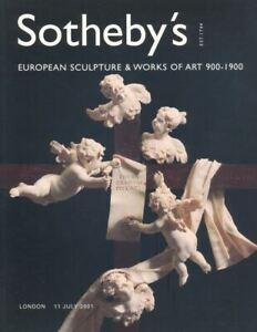 Sotheby's Catalogue European Sculpture & WOA 900-1900 2001  HB