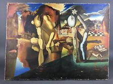 "Vintage Surreal After Dali ""Aftermath of Narcissus"" Signed Copy Unknown Artist"