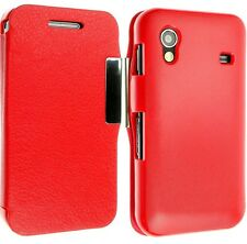 FOR SAMSUNG GALAXY ACE S5830 S5830i LEATHER CASE COVER WALLET FLIP POUCH BACK