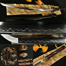 Clay Tempered Blade Beautiful Dragon Fittings JAPANESE BATTLE READY KATANA SWORD