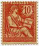 FRANCE N°124 "TYPE MOUCHON RETOUCHE, 10 C ROSE" NEUF xTB