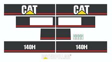 Caterpillar 140H Motor Grader Decals / Adhesives / Stickers Complete Set