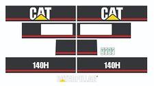 Caterpillar 140H Motor Grader Decal / Adhesive / Sticker Complete Set