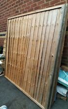 Garden fence panelsx4, not featheredge  6x6ft  £60 collection from Kettering