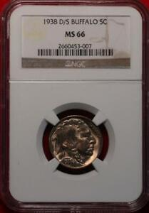 1938-D/S Mint Buffalo Nickel NGC Graded MS 66