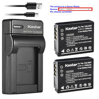 Kastar Battery Slim Charger for Panasonic CGA-S007 & Panasonic LUMIX DMC-TZ3S