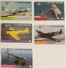 art.1625-n.5 phone card, airplanes, aerei, Israele