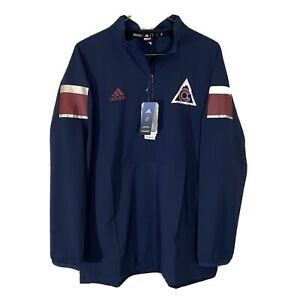 Adidas Auth NHL Colorado Avalanche 1/2 Zip Pullover Jacket Mens L Blue  NWT
