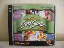 HALLMARK CARD STUDIO 2003 - CDs in MINT CONDITION w/ MANUAL & CASE