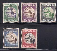 Paraguay   1950   Sc # C179-83   UPU   VLH   OG   (53439)