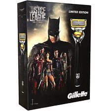GILLETTE JUSTICE LEAGUE EDITION Set Regalo-Fusion PROSHIELD Uomo Razor & Blades