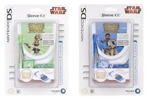 Nintendo DS Lite DSi Sleeve Kit Star Wars The Clone Wars AHOSKA / OBIWAN Pick!!