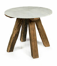 NEW 'CASA UNO Cape Cod 4 Seater Wood Dining Table with Round Stone Top RRP $1429