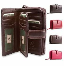 Visconti Womens Large Soft Leather Purse Wallet Ladies Genuine MADAME HT33