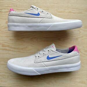 Nike SB Shane T Men's Size 11.5 Skateboarding Shoes Summit White Pink Blue