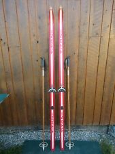 """GREAT Ready to Use Cross Country 73"""" Long TITAN 190 cm Skis  +  Poles"""