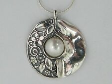 shablool sterling silver 925 Necklace Pendant with pearl stone N02004