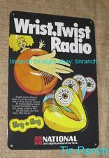 vintage TOOT-A-LOOP wrist RADIO TIN SIGN 70s National metal advert TRANSISTER