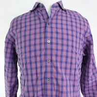 ZACHARY PRELL LONG SLEEVE BLUE RED PLAID BUTTON DOWN SHIRT MENS SIZE XL