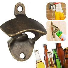 Kitchen Bar Bottle Opener Vintage Bronze Wall Mounted Wine Beer Soda Cap Gift
