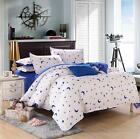 Star White Single Double Queen King Size Bed Set Pillowcase Quilt Duvet Cover