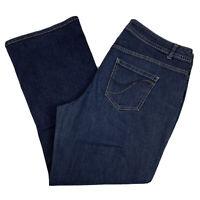 Lane Bryant Bootcut Jeans Women's Plus Size 20 Stretch Dark Wash Genius Fit