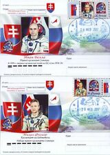Russian 2017 Space Post Card Stamp Slovak Cosmonauts Ivan Bella & Mikhail Dulier