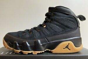 Nike Air Jordan 9 Retro Boot NRG Men's Sz 9 Black Gum Light Brown AR4491-025