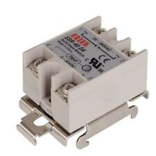 1pcs Single Phase Ssr 35mm Din Rail Fixed Solid State Relay Clip Clamp Yk