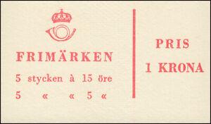 Markenheftchen 3ab Ziffer / König Gustav VI. Adolf - mit Heftchenblatt 10, **