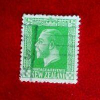 KING GEORGE V NEW ZEALAND POSTAGE STAMP USED 1/2d