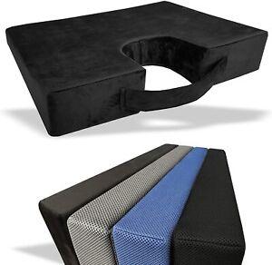 Orthopaedic Memory Foam Seat Cushion Back Posture Support Lumbar Coccyx Pain UK
