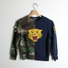 Polo Ralph Lauren Colorblocked Crewneck Sweatshirt Tiger Appliqué Sz Small