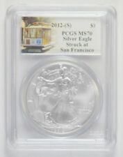 2012-(S) American Silver Eagle PCGS MS-70 Struck at San Francisco