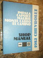 1982 CHEVROLET CAPRICE ORIGINAL FACTORY SERVICE MANUAL SHOP REPAIR