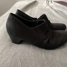 Rieker Antistress Ladies  Heeled Shoes Black Nubuck  Size 4 /37 Comfort Slip On