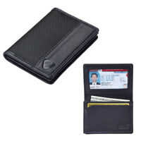 RFID Wallet Mens ID Card Holder  Compact Leather Slim Security Lewis N Clark !