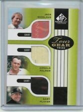 2012 SP Game Used Jack Nicklaus Arnold Palmer Gary Player Tour Gear Trios
