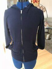 NWT Monrow Classic Full Zip Hoodie Blue Size X-Small