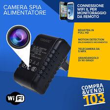 Alimentatore Spia Wifi Camera Spy Spina Sos telecamera Segreta motion detection