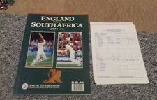 457) Enland cricket tour of South Africa programme 1995-1996