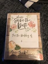 Save The Date Gold Floral Cards X25 Plus 6