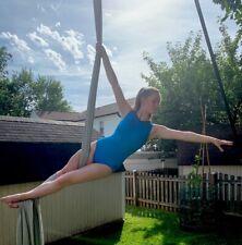 Adidas size AM blue black gymnastics leotard Adult Medium