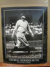 Vintage Babe Ruth 1990 poster George Herman Ruth The Sultan of Swat 3556