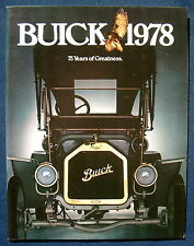 Prospekt brochure 1978 Buick Regal * Electra * Riviera * Skyhawk (USA) - 76 S.!