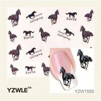 Nagelsticker Fingernägel Aufkleber Tattoo Nail Art Nageldesign Pferde XF 1555