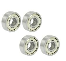 4 Pcs 608ZZ Deep Groove Ball Bearings Skateboard Drawer Toy Replacement 22*7mm