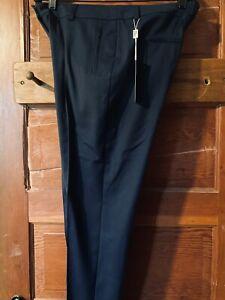 NWT Akris Punto Blue Cotton Blend Slim Pants Size 10